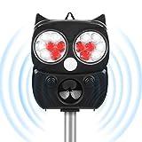 Tiervertreiber Ultraschall Solar, 5 Modus Hochleistung Breite Abdeckung Katzenschreck Tiervertreiber...