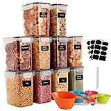 GoMaihe 1.6L Vorratsdosen 10 Set, Aufbewahrungsbox Küche Luftdicht Behälter aus Plastik Mit...