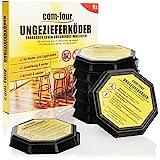 com-four® 8X Ungeziefer Köder-Falle, anwendungsfertige Köder-Dosen zur...