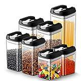 Vorratsdosen Frischhaltedosen für Lebensmittel 7 teilige Set, Vorratsbehälter mit luftdichtem...