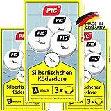 PIC - Silberfisch-Köderdose - Silberfische bekämpfen durch Wirkstoff Tabletten...