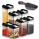 Vorratsdosen Frischhaltedosen für Lebensmittel 7 teilige Set, Vorratsbehälter...
